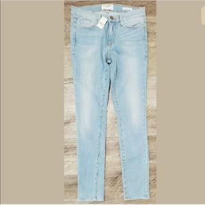 Frame Denim Jeans Le Skinny De Jeanne Crop Stretch